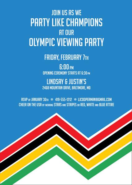 Winter Olympics Invitation