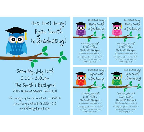 Graduation Owl Invitation