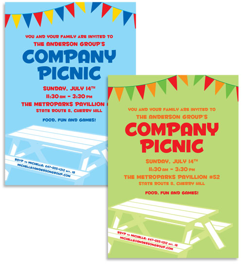 Picnic Theme Invitation