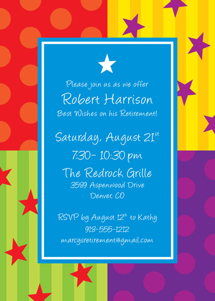 A Retirement Celebration Party Invitation