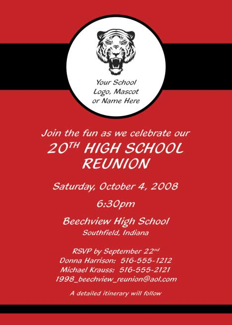 Reunion Party Invitation, Red