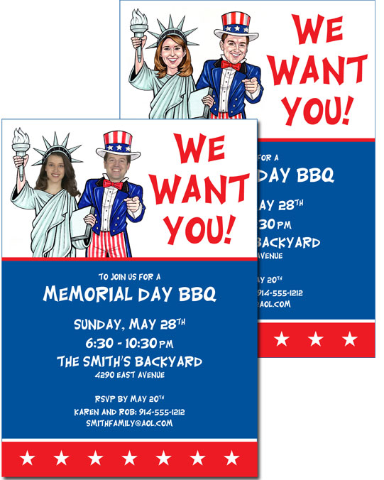 A Patriotic ''Add a Face'' Invitation
