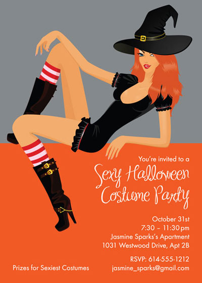 Halloween Sexy Party Invitation