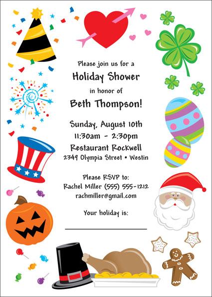Bridal shower holiday theme invitation filmwisefo