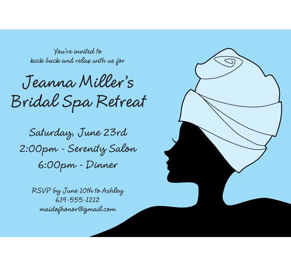 Bridal Spa Invitation