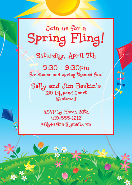 Flying Kites Invitation