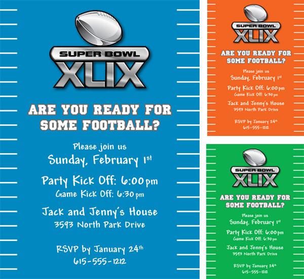 2015 Super Bowl XLIX Invitation