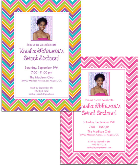 Sweet Zig Zags Invitation
