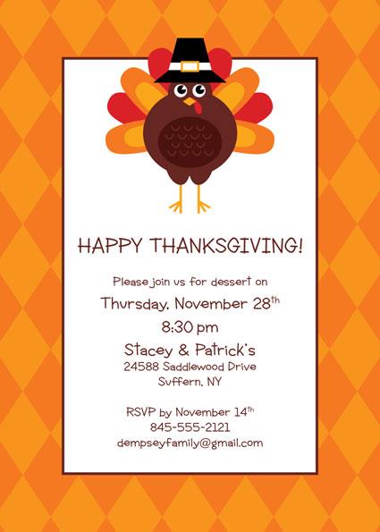 Thanksgiving Celebration Invitation – Thanksgiving Party Invite