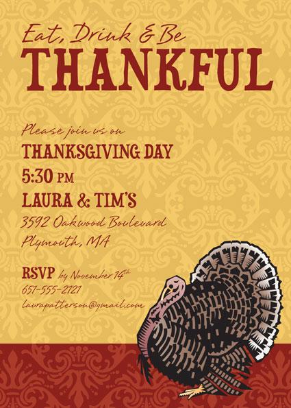 Thanksgiving Turkey Invitation