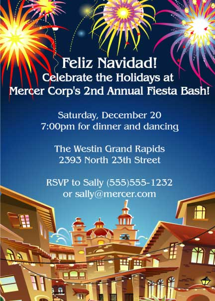 Fiesta Holiday Invitation