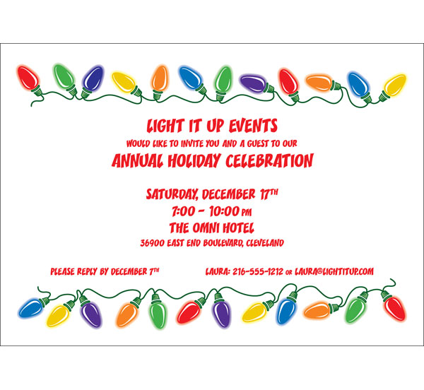 Christmas Lights Invitation