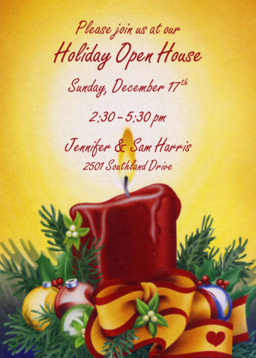 Holiday Lights Invitation