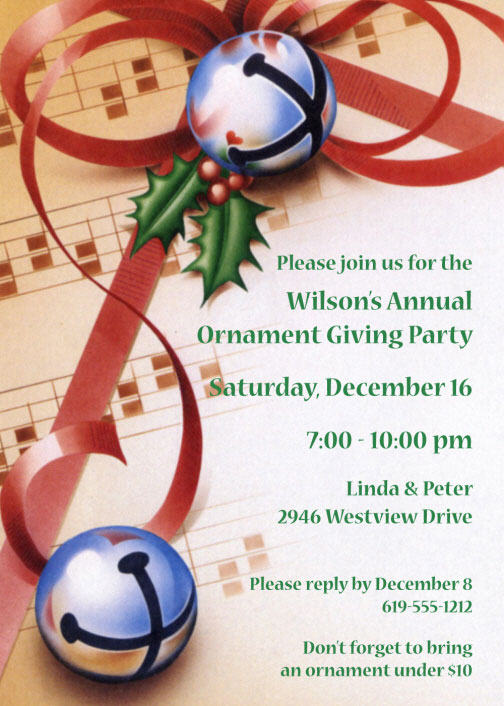 Christmas Bells Invitation