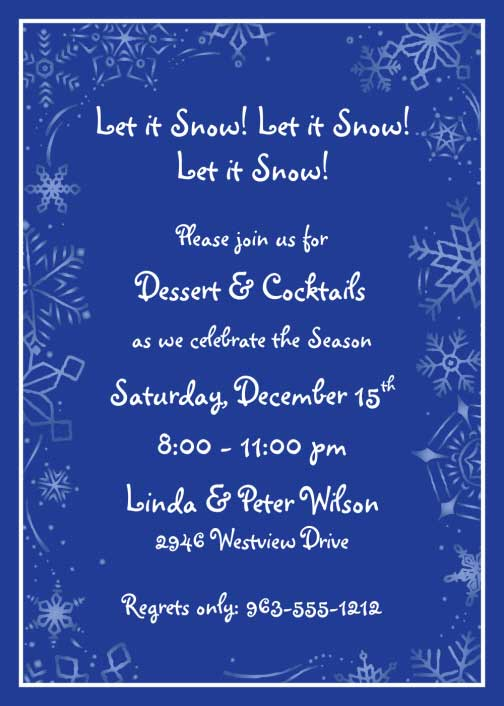 Winter Theme Invitation