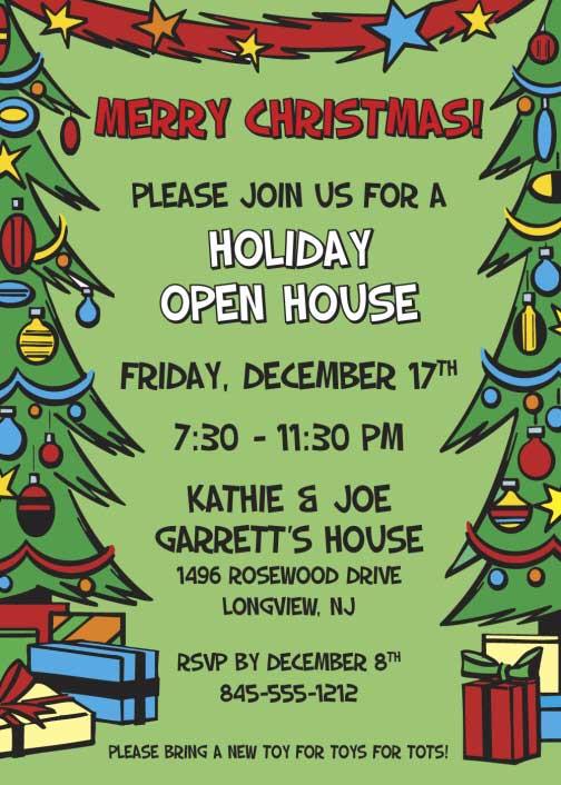 Christmas Tree Invitation