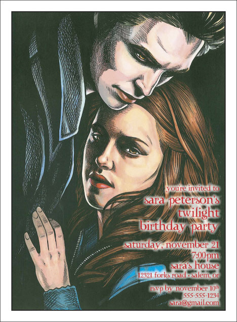 Twilight Caricature Invitation