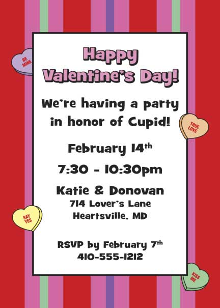 A Valentine's Day Party Invitation