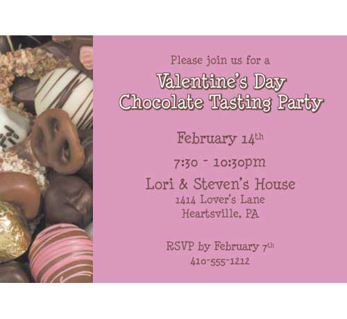 Valentine's Day Chocolates Invitation