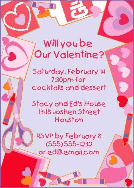 Valentine's Day Kids Invitation