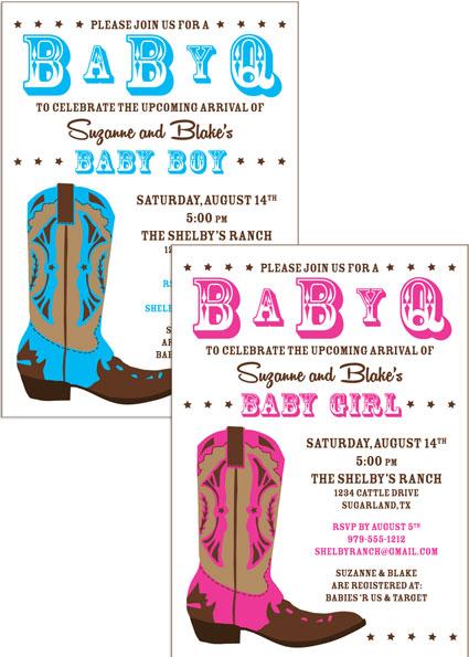 Western Baby Invitation