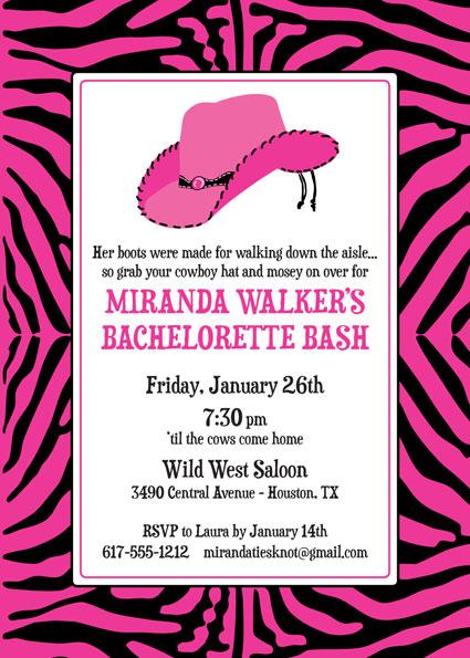 Western Cowgirl Invitation