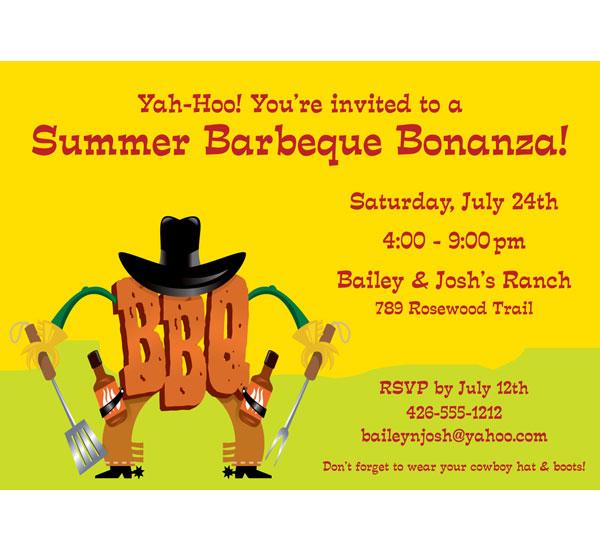 BBQ Western Invitation