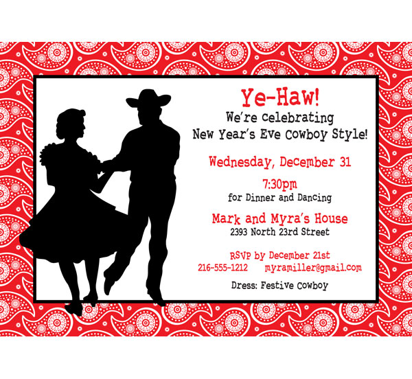 Western Hoedown Invitation