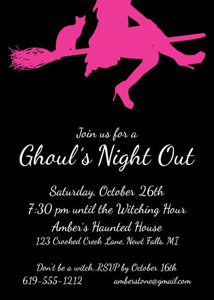 Ghoul's Night Out Halloween Invitation