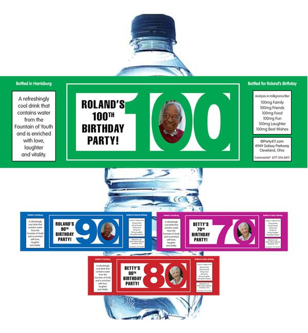 Birthday Photo Milestone Water Bottle Label