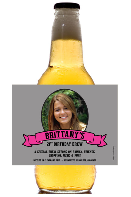 Birthday Photo Beer Bottle Label