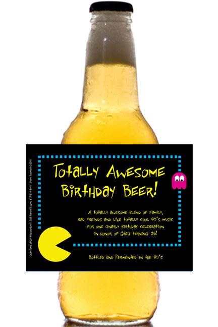 80s Theme Beer Bottle Label
