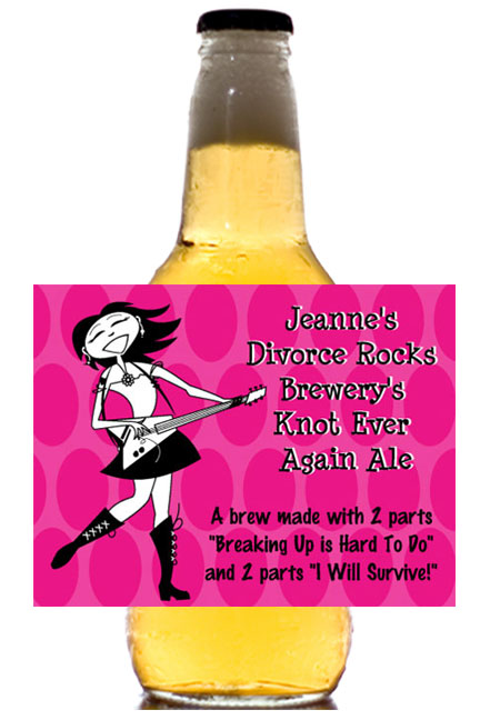 Divorce Beer Bottle Labels