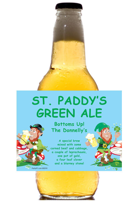 St. Patrick's Day Party Theme Label - Beer Bottle