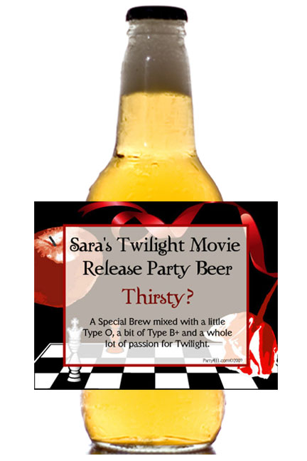 Twilight Beer Bottle Labels