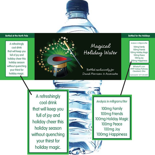 Holiday Magic Water Bottle Label