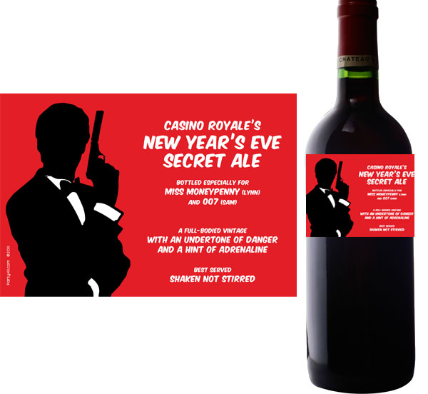 Casino Royale Wine Champagne Bottle Label