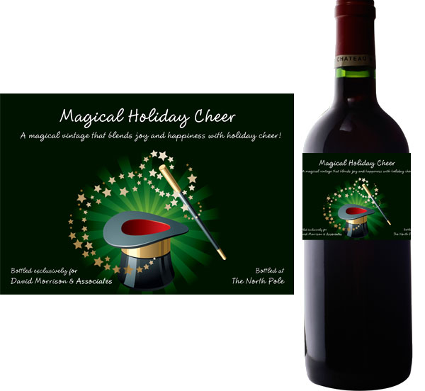 Holiday Magic Wine Bottle Label