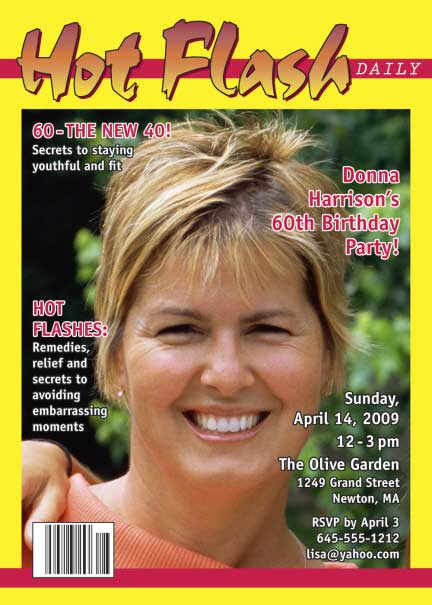 Birthday Hot Flash Magazine Cover Invitation