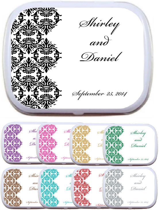 Classic Damask Theme Mint Tin