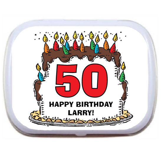 Birthday Cake For Him Mint Tin