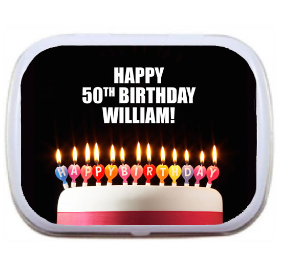 A Milestone Birthday Mint Tin
