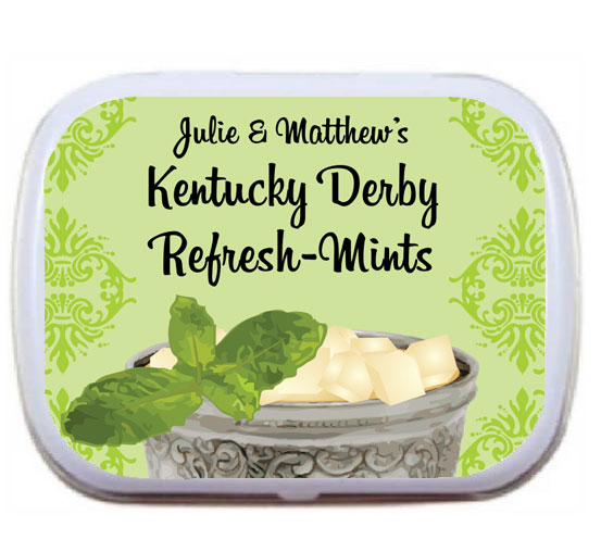 Kentucky Derby Julip Theme Mint and Candy Tin