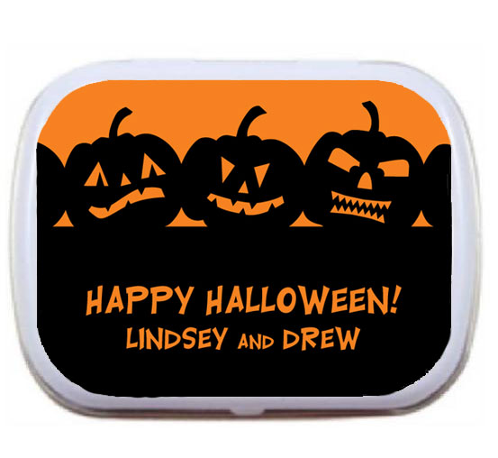 Halloween Jack o Lantern Theme Mint Tin