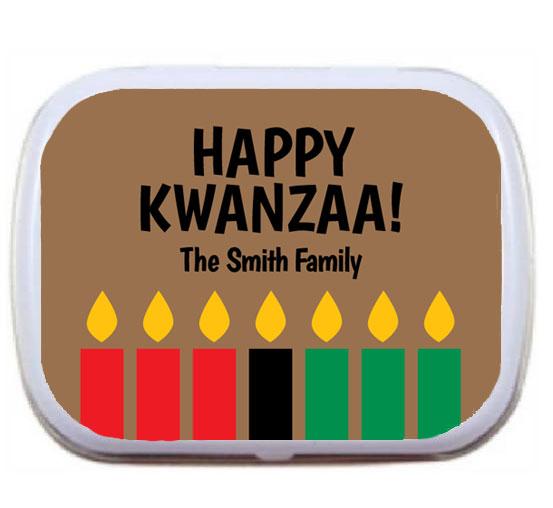 Kwanzaa Kinara Mint Tin