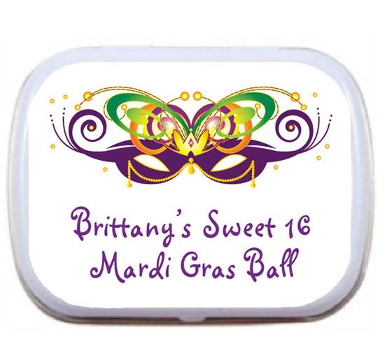Mardi Gras Ball Theme Mint Tin