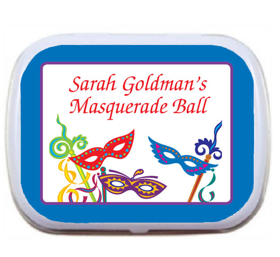 Mardi Gras Madness Theme Mint Tin