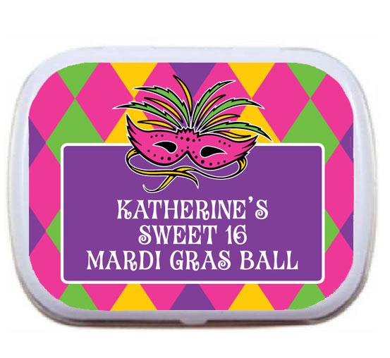 Mardi Gras Party Theme Mint Tin