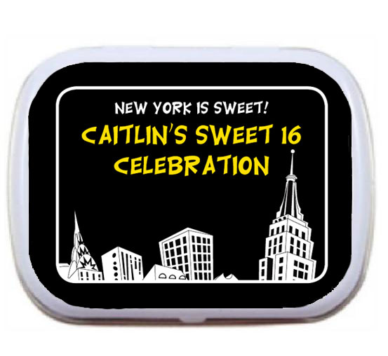 New York Party Theme Mint Tin