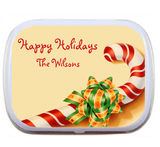 Christmas Candy Cane Mint Tin